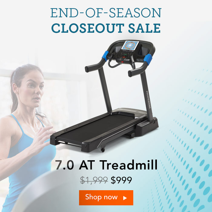 End of Season Closeout Sale. 7.0 AT Treadmill for only $999.