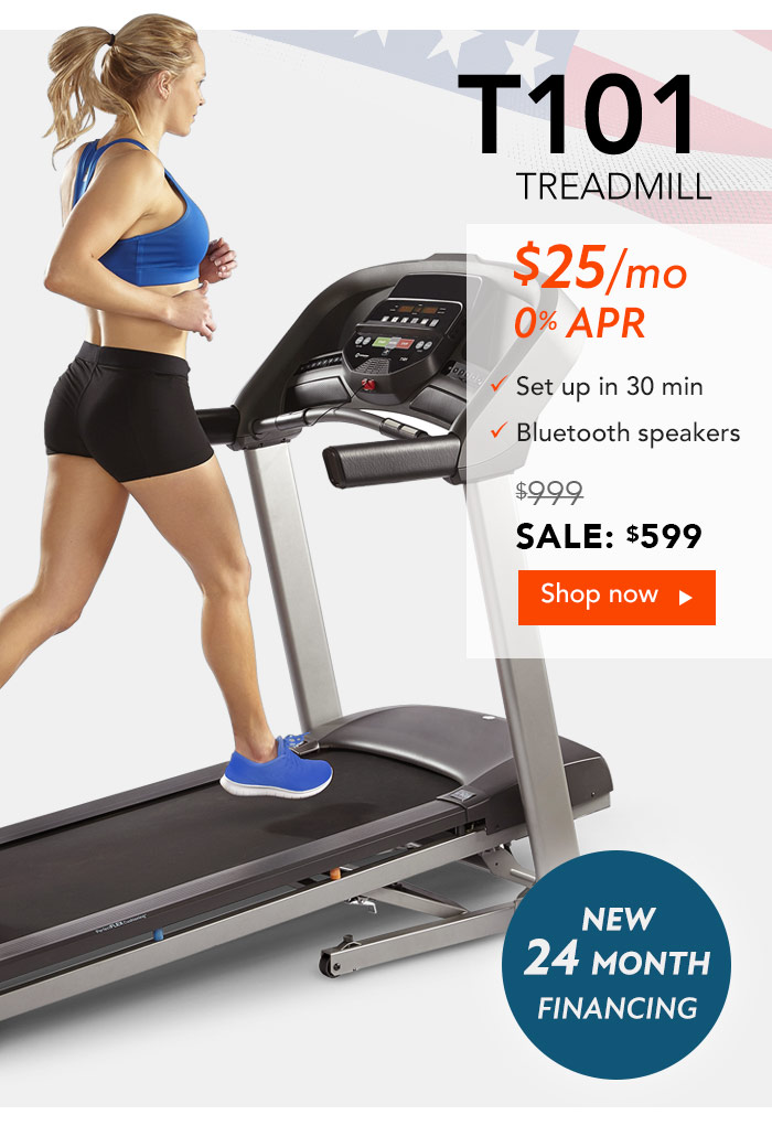 Save an extra $50 on the Horizon T101 Treadmill.